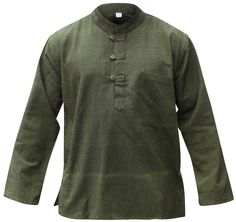 One side pocket with grandad style neckline. Hemp and cotton light weight shirt. Color Might be slightly different than the photo due to light and as each shirt produced is unique. s chest To fit chest size. Mens Hippie Shirts, Hippie Style Clothing, Men's Clothing, Grandad Shirts, Hippie Tops, Casual Shirts, Casual Tops, Short, Mens Fashion
