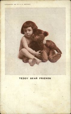 Old Teddy Bears, Vintage Teddy Bears, Doll Toys, Dolls, Graphics Fairy, Vintage Images, Old Photos, Postcards, Children