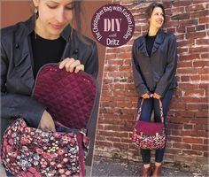 The Christopher Bag in Corduroy with Rain Slicker Latches: Dritz Sewing Supplies  | Sew4Home