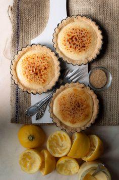 Lemon crème brulée tartlets