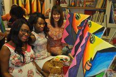 Date Night in Atlanta   Atlanta Date Night Art Painting   Pinterest