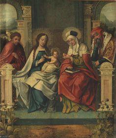 """Sagrada Familia"", Anónimo, 1500 - 1535"