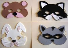 Carnival masks and costumes for kids - Rustikale Weihnachten Diy And Crafts, Crafts For Kids, Arts And Crafts, Paper Crafts, Felt Mask, Animal Masks, Printable Paper, Mask For Kids, Activities For Kids
