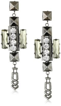 Fallon Ines Drop Earrings Fallon. $225.00. Handmade. Signature pyramid studs. Made in USA