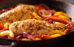 Schwartz recipe for Pan-fried Piri Piri Chicken, ingredients and recipe ideas for chicken and Caribbean cooking. Visit Schwartz for more recipe ideas. Paleo Rice, Piri Piri, Easy Meals For Two, Peppers And Onions, Fries, Cooking Recipes, Stuffed Peppers, Chicken, Recipe Ideas