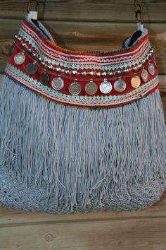 Bolso Cinturon Aghanistan- Celeste