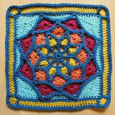 Ravelry: Sun Catcher Afghan Square pattern by Julie Yeager