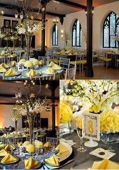 Un carnet d'inspiration Jaune et gris - The Wedding Tea Room
