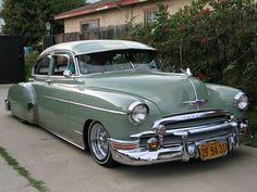 1950 Chevy 4 door with visor
