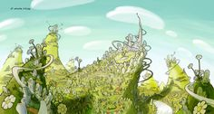 Horton hears a Who - Whoville Concept Art II   Jake Parker
