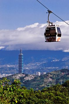 The Maokong Gondola in Taipei, Taiwan. We did this last time and loved it!!!