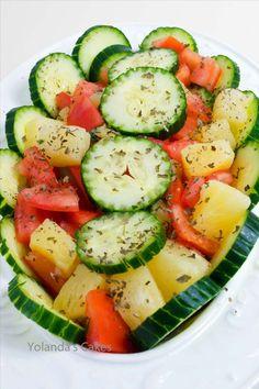 Cucumber, Tomato, Pineapple Salad Recipe