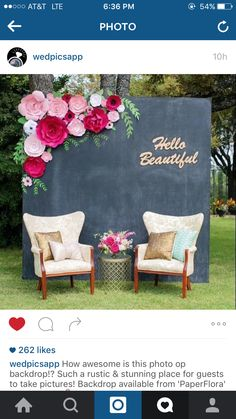 Shades of Pink, bright pink and black paper flower backdrop for weddings, showers, events. paper flower backdrop by PaperFlora Bridal Shower Flowers, Paper Flowers Wedding, Giant Paper Flowers, Large Flowers, Flower Paper, Diy Wedding Backdrop, Diy Backdrop, Wedding Decorations, Backdrop Lights