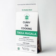 """Curry On Cooking - curry kits for homecooking """"fake-away' Cooking Curry, Masala Curry, Great British, British Meals, Spices, Homemade, Kit, Pure Products, Sisters"""