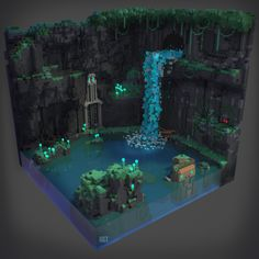Autumn Rain Turkel : Some voxel art from various programs. Just for fun. Plans Minecraft, Minecraft Blueprints, Minecraft Designs, Cool Minecraft, Minecraft Crafts, Minecraft Structures, Minecraft Buildings, Minecraft Museum, Bg Design
