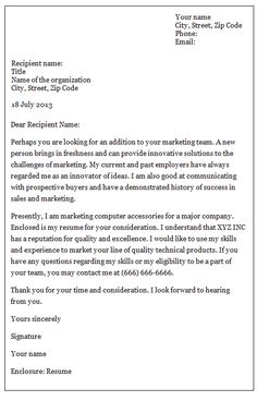 Employment Application Letter An Application For