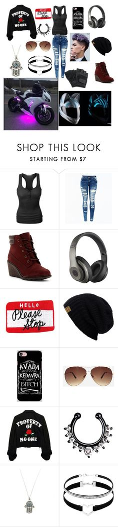 """""""😎😜"""" by nekogirl13 on Polyvore featuring LE3NO, Timberland, Beats by Dr. Dre, Samsung, Ashley Stewart and Zara Taylor"""