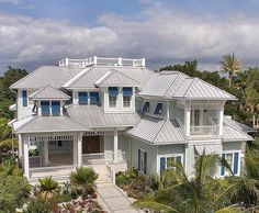 Palatial Florida Home Plan - 66332WE | 1st Floor Master Suite, Beach, CAD Available, Den-Office-Library-Study, Elevator, Florida, Loft, Luxury, PDF, Photo Gallery, Premium Collection, Southern | Architectural Designs