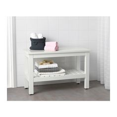 "HEMNES Bench - white - IKEA. Length: 32 5/8 "" Width: 14 5/8 "" Height: 20 7/8 """