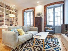 La #casa pequeña: Un refugio para dos. Ubicada en un edificio histórico del s. XX, esta vivienda sufrió una profunda transformación. #reformas