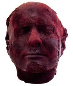 Mark Quinn made a sculpture of his face out of his own frozen blood. creepy?