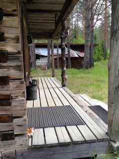 Porch log cabin near Puumala, Finland