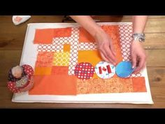▶ Stash Busters with Cheryl Arkison, Contemporary Quilter - YouTube/making circles with freezer paper and machine appliqueing them to foundation