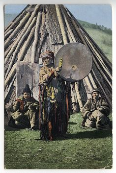 An Altai Kizhi or Khakas shaman woman Early 20th century