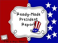 This ready-made assignment has everything you need to assign a president report to your students. This mini activity unit comes with a directions page for your student, a grading rubric, an oral report rubric, a calendar for scheduling oral reports AND information cards for EACH United States president.