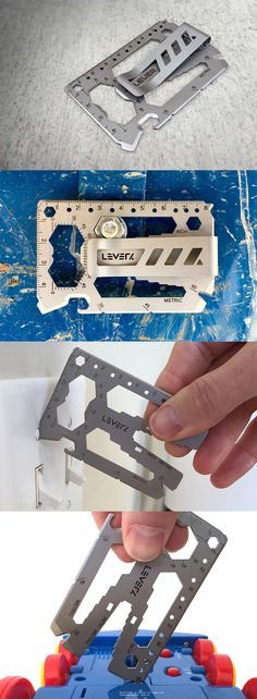 The 'Lever Gear' is a tiny piece of Stainless Steel magic which has everything from wrenches (both inch and metric), to a bottle opener, to a cord cutter, box cutter, screwdriver, and even a protractor... READ MORE at Yanko Design !