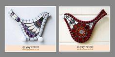Vintage Mosaic Birds & Fish Artworks - Retro and Vintage China, Glassware and Kitchenalia - yay retro!