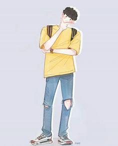 Aesthetic Colors, Aesthetic Anime, Park Chanyeol, Suho, Exo Chanbaek, Exo Fan Art, Kpop Fanart, Cute Art, Chibi