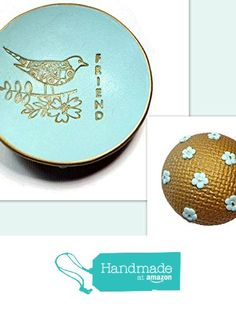 Mint Green Friendship Ring Dish- Handmade Jewelry Holder Bird Trinket Dish- Polymer Clay Dish- Home Decor- Gifts for Home- Birthday Gifts for Her from SK  Artisan Jewelry & Gifts https://www.amazon.com/dp/B01N5O4ODY/ref=hnd_sw_r_pi_dp_mkNHyb7Y98N10 #handmadeatamazon