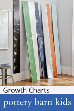 Personalized Orange Growth Chart at Pottery Barn Kids - Baby Growth Charts Pottery Barn Look, Pottery Barn Kids, Personalized Growth Chart, Personalized Wall Art, Growth Chart Ruler, Growth Charts, Playroom Furniture, Charts For Kids, Letter Wall