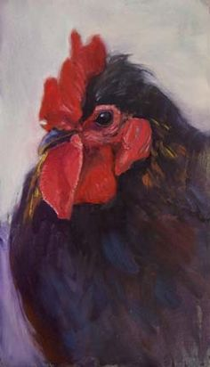 painting chickens, thinking of Ellen with 140 chics