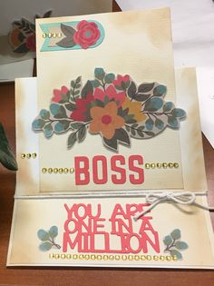 For a special boss! Easel card.