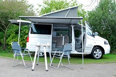 Nice awning. The new VW T5 California camper vans at U-Drive