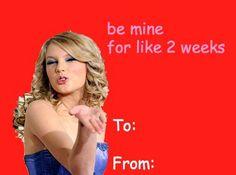 A Taylor Swift Valentine.