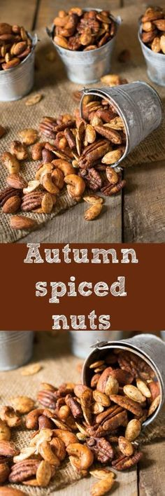 Mixed nuts and pumpkin seeds are roasted with warm spices, honey and rosemary, a… by geneva