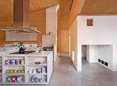 OOPEAA designed House L, a contemporary holiday retreat built on the bones of a farmhouse. Interior Design Magazine, Interior Desing, Kitchen On A Budget, Kitchen Ideas, Scandinavian Home, Architect Design, Kitchen And Bath, Kitchen Wood, Beautiful Interiors