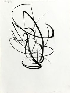 비보잉-움직임을 큰 선으로 표현하여 여러 동작을 동시에 그렸다_붓펜.