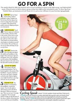 Cycling Speak - Some tips before your spin class