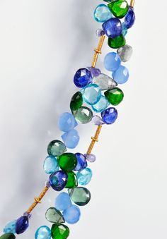 Greig Porter Chalcedony/Aquamarine Cluster Necklace » Santa Fe Dry Goods | Clothing and accessories from designers including Issey Miyake, Rundholz, Yoshi Yoshi, Annette Görtz and Dries Van Noten