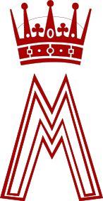 królewski monogram księżnej koronnej Norwegii Märthy [Märtha av Norge]