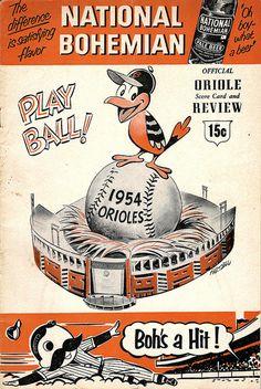 Scorecard from Orioles game in 1954 Baseball Scores, Baseball Games, Sports Baseball, Sports Logo, Sports Art, Baseball Signs, Baseball Posters, Sports Posters, Tigers Baseball