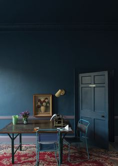 3.Dark colors are chosen to make the room seem darker