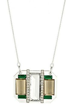 Crystal Rows necklace