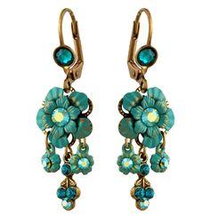 Michal Negrin Jewelry Crystal Flower Earrings | Michal Negrin Earrings