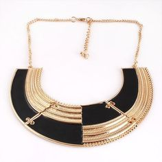 Glamorous Semi-circle Elegant Bib Necklace