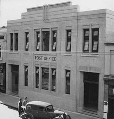 Post Office, 202 Rundle Street, Adelaide, The building still stands, with some modification to the street level. Photograph by Henry Krischock. Vintage Food Posters, City Of Adelaide, French Crafts, Adelaide South Australia, Still Standing, Le Corbusier, Post Office, Art World, Old Photos